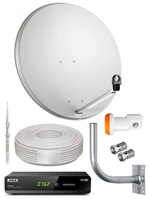 Kit Sat: Parabola, Decoder DVB-S2, Staffa e Cavo